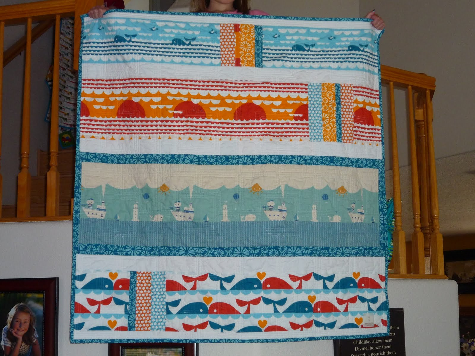 Quilted By Dawn Dan Stiles Marine Quilt