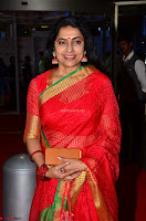 Suhasini in Designer dark Red Saree at 64th Jio Filmfare Awards South ~  Exclusive 002.JPG