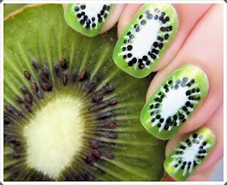 Meyve Desenleri ile Tırnak Süsleme Örnekleri 1