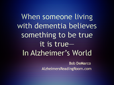 When Someone Living with Dementia | Alzheimer's Reading Room