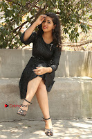 Telugu Actress Pavani Latest Pos in Black Short Dress at Smile Pictures Production No 1 Movie Opening  0057.JPG
