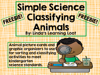 https://www.teacherspayteachers.com/Product/Freebie-Simple-Science-Classifying-Animals-Kindergarten-1982581