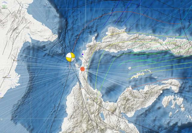 Gambar Peta Gempa bumi Donggala, Palu BMKG