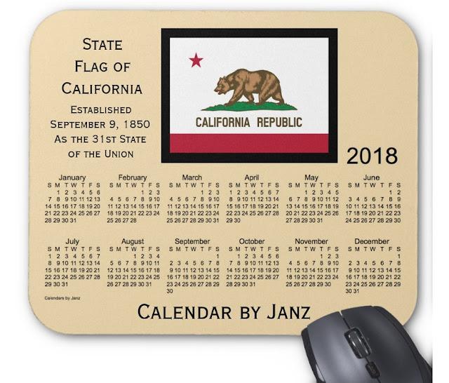 Feriados no estado californiano em 2018