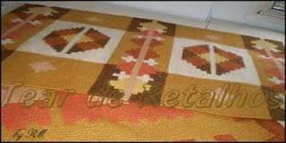 Tapete Killin Dhurrie. Uma arte em tear manual em sete cores de lã.