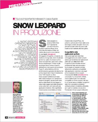 Snow Leopard in produzione