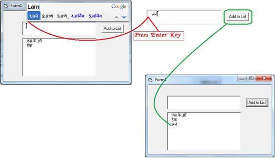Google Input Typing Instruction