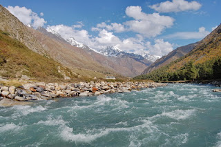 Baspa River In Kinnaur,