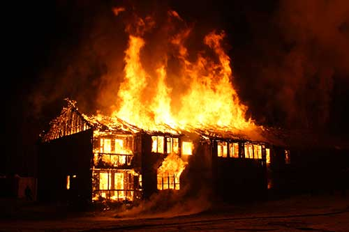 Essay on a house on fire 200 words