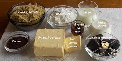 Preparare prajitura cu nuca - etapa 6