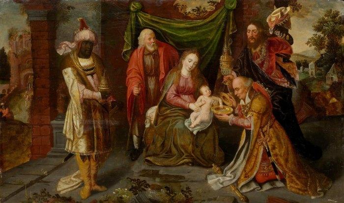 Антверпенская школа, конец XVI века - Поклонение королей