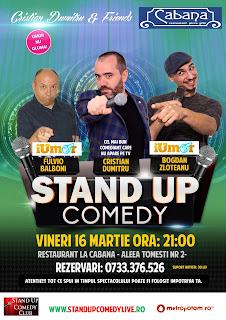 Stand-Up Comedy Bucuresti Vineri 16 Martie