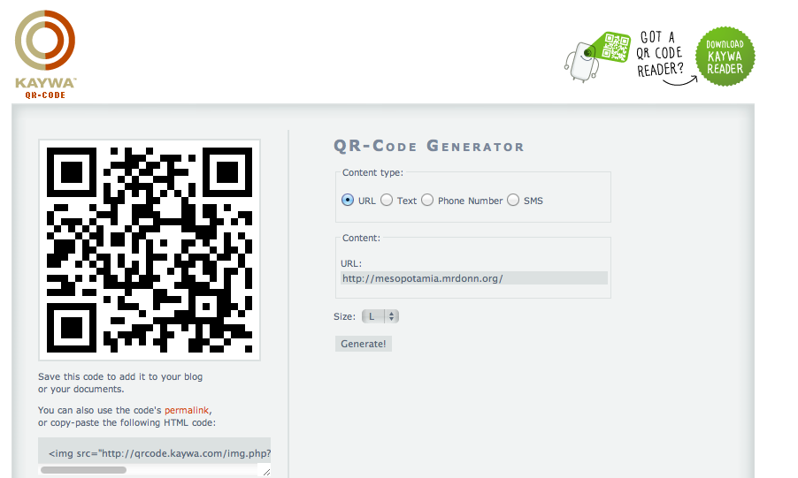 QR Codes Part 2: Using Kaywa to Generate a QR Code - Leader Live