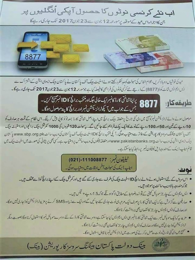 HOW TO GET NEW CURRENCY NOTES BEFORE EID-UL-FITR