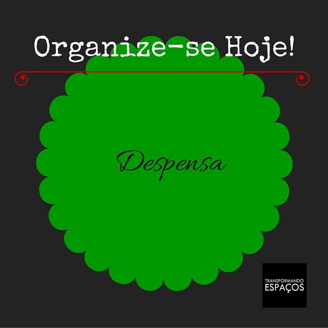 Desafio Organize-se Hoje! | Organize a Despensa