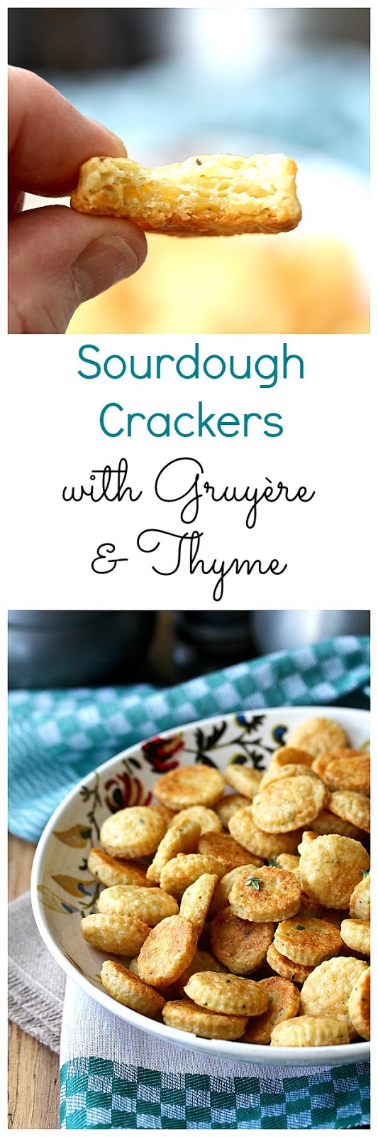 Sourdough Crackers with Gruyère and Thyme