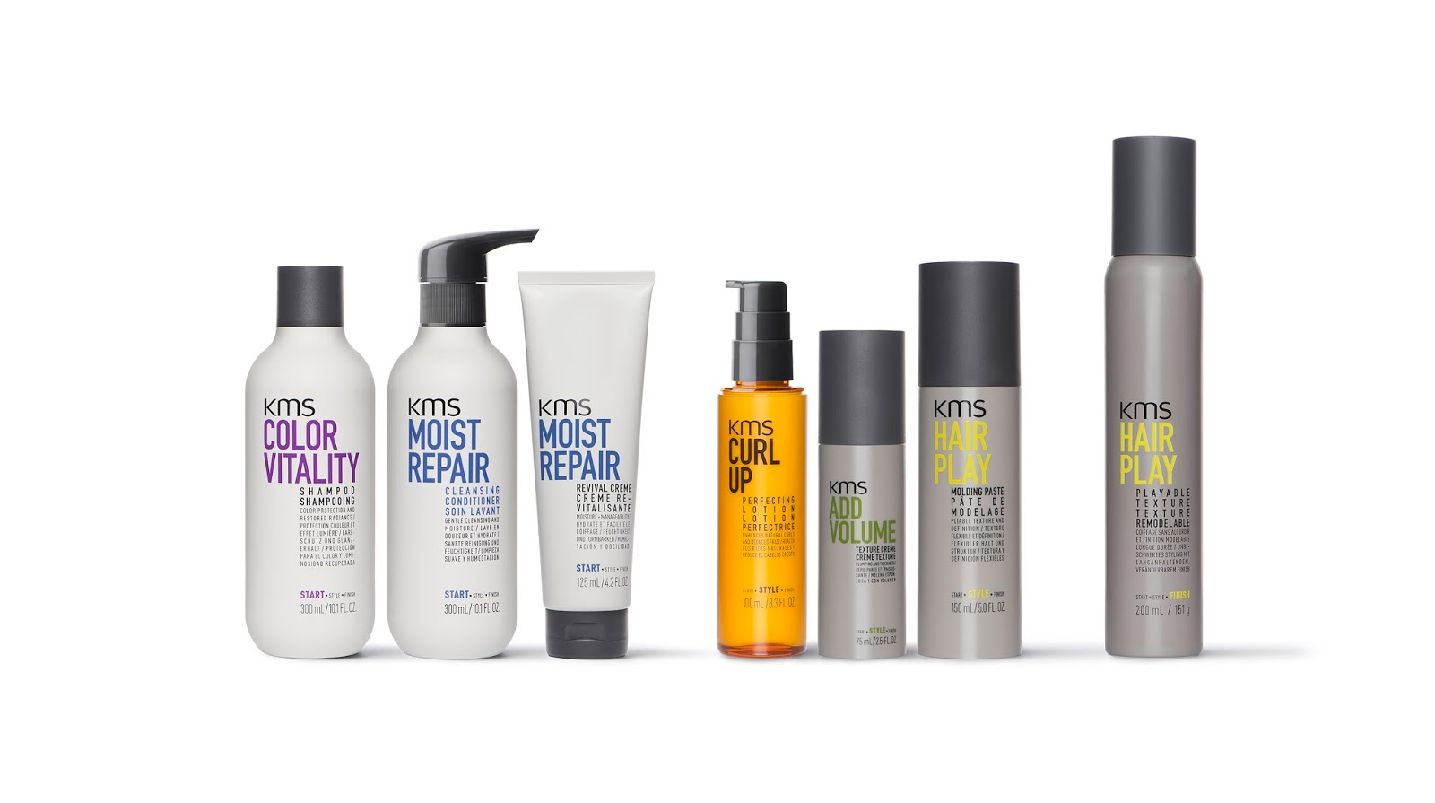 k style hair products kms styling and hair care range on packaging of the world 2311