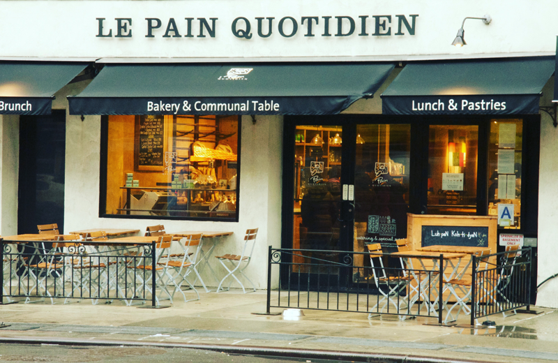 la pain quotidien manger a Londres plaisir papilles fast food british