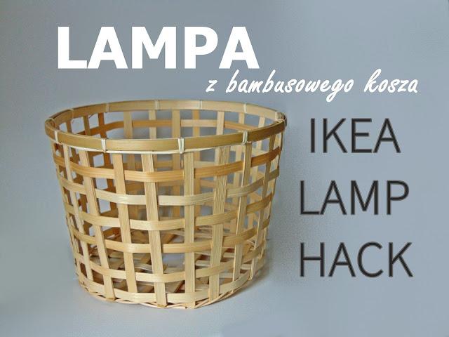abażur z bambusowego kosza IKEA