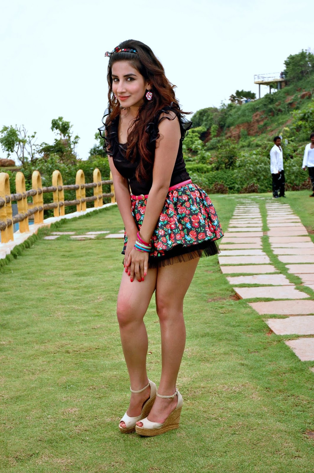 Parul Gulati in micro mini skirt