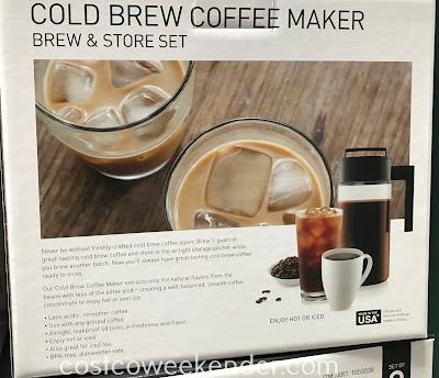 Costco 1050038 - Takeya Cold Brew Coffee Maker Brew and Store Set: for the casual coffee drinker or for the coffee enthusiast
