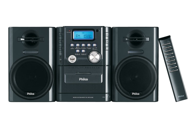 Micro System Philco MSP211N, Mp3, USB, Rádio AM/FM