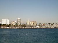 Long Beach shoreline and condo buildings