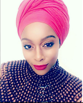 South African Endowed Actress Goes Braless and Flaunts Thigh In Ankara Outfit