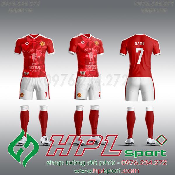 Mẫu áo câu lạc bộ tự thiết kế MU đỏ