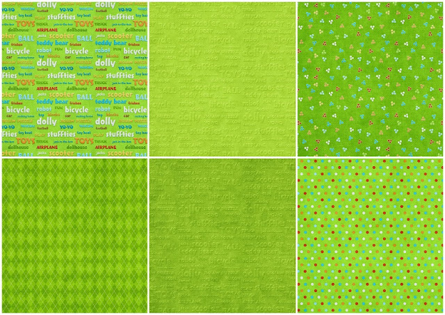 Backgrounds in Green of the Pretty Toy Store Clip Art.