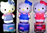 Hello Kitty peel off nail polish review: easy removable children non-toxic purple lilac blue red pink DOLLARTREE