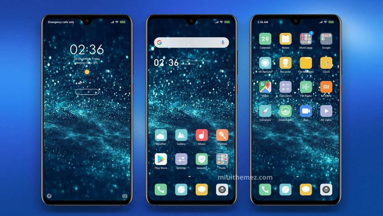Blue Diamond MIUI 11 Theme