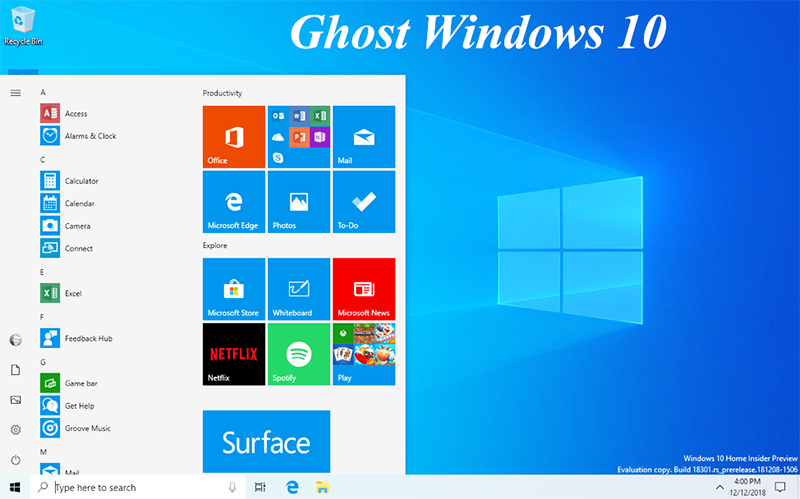 Download Ghost Win 10 64bit 2019 Nhẹ- Bản full driver, full soft google drive e