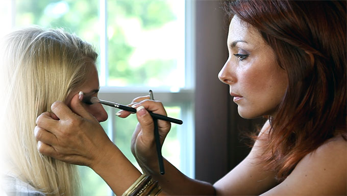 It is here that having an on-site wedding hair and makeup in NJ will help her look her best.