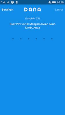 cara daftar di aplikasi dana android