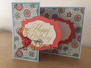 handmade z fold birthday card