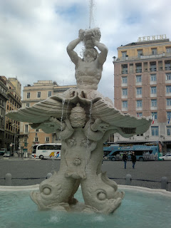 The Fontana del Tritone in Piazza Barberini