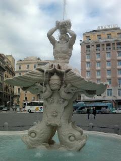 The Fontana del Tritone in Piazza Barberini