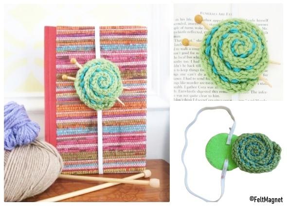 marcador libros, cordoncillo tejido, detalles crochet, regalos