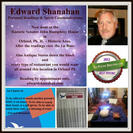 Edward Shanahan Chicago Psychic Reader and Medium details.