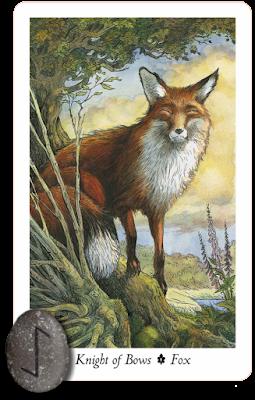 Wildwood Tarot Knight of Bows Runes Eihwaz