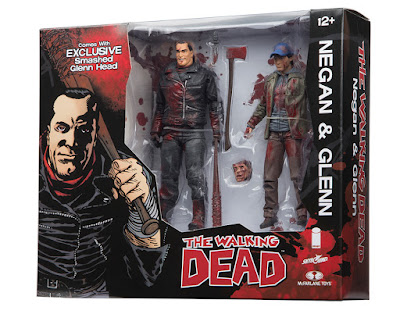 San Diego Comic-Con 2016 Exclusive The Walking Dead Blood Splattered Full Color Edition Negan & Glenn Action Figure Box Set by McFarlane Toys x Skybound