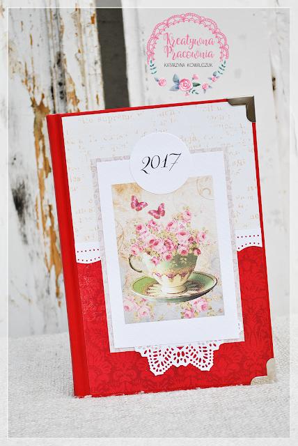 kalendarz, 2017, handmade, scrapbooking