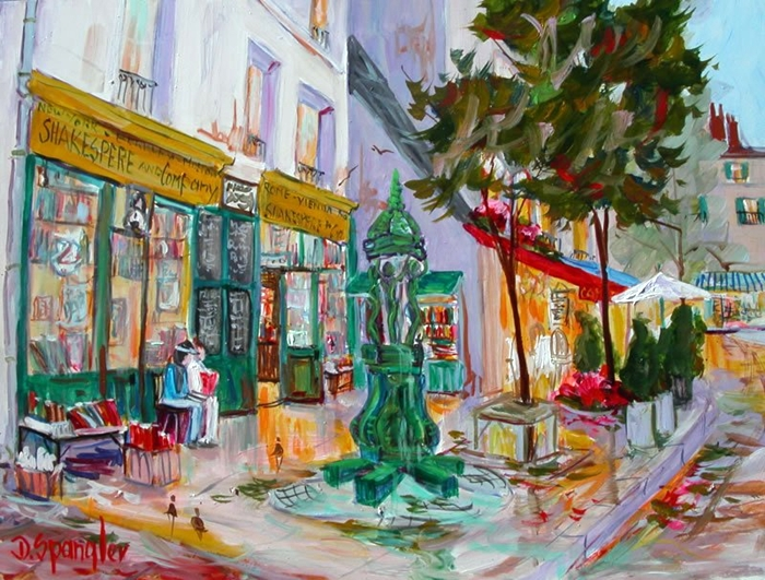 Dorothy Spangler | American Plein-air painter | Parisienne  Walkways