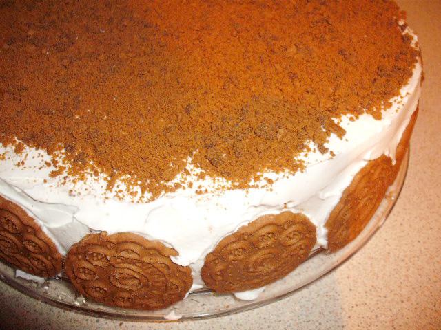 τούρτα με μπισκότο και μερέντα