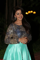 Nikki Galrani in Green Skirt  Top at Marakathamani music launch ~  Exclusive (69).JPG
