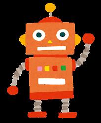 玩具のロボットのイラスト(オレンジ)