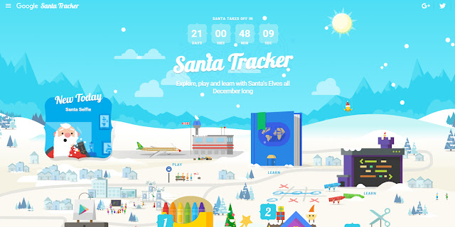 Google Santa Village Tracker
