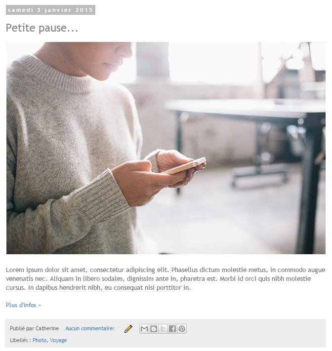 Afficher un aperçu d'article - Ajouter et modifier le lien Lire la suite sur Blogger