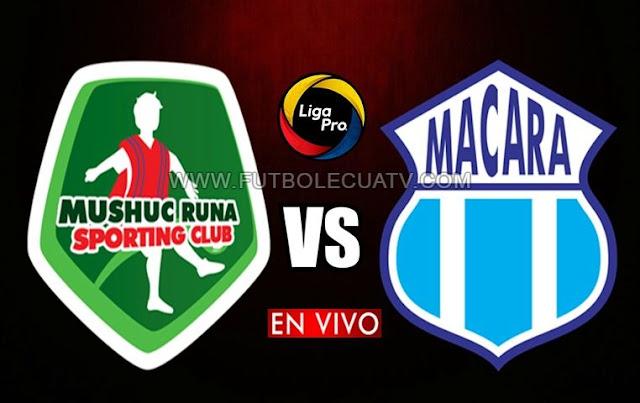 Mushuc Runa y Macará se enfrentan en vivo a partir de las 19h15 horario de nuestro país por la fecha 24 del futbol ecuatoriano a realizarse en el campo Bellavista de Ambato, siendo el árbitro principal Marlon Vera con emisión del canal autorizado GolTV.
